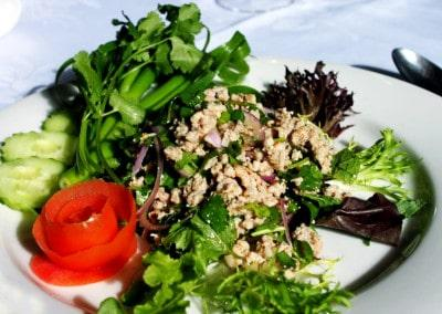 Chef Chaloem Chalseeha's Larb Gai: Issan Chicken Salad.