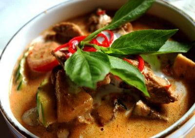 Chef Chaloem Chaiseeha's Kaeng Ped Bed Yang: Duck in Red Curry