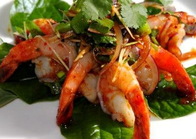 Chef Chaloem Chaiseeha's Pia Goong; Hot and Spicy Prawn Salad
