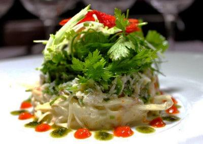 Chef Bruno Doucet's Remoulade of King Crab with Apple, Coriander & Dried Tomato