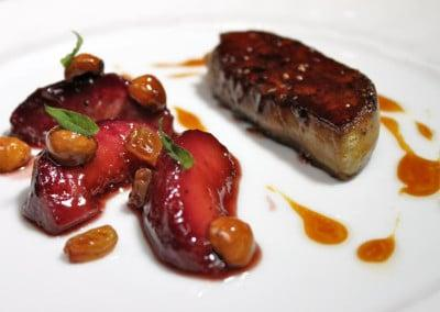 Chef Olivier Limousin's Foie Gras with Peaches and Hazelnuts.