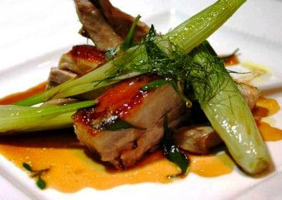 Chef Lukas Pfaff's Slow Cooked Pig, Wild Fennel & Sea Purslane