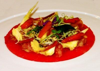 Chef Alessandro Frau's Yellowfin Tuna Carpaccio