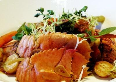 Chef Andy Bates's Slipper Lobster and Root Vegetable Salad