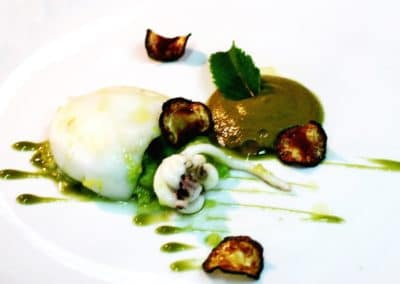 Chef Lino Scarallo's Cream of Fennel, Seared Cuttlefish & Star Anise