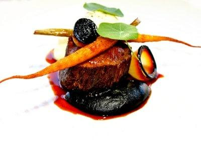 Chef Scott Pickett's Waygu Fillet, Burnt Carrot and Horseradish Foam