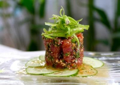 Chef Tammasak Chootong's Spicy Tuna Tartare & Saan Style