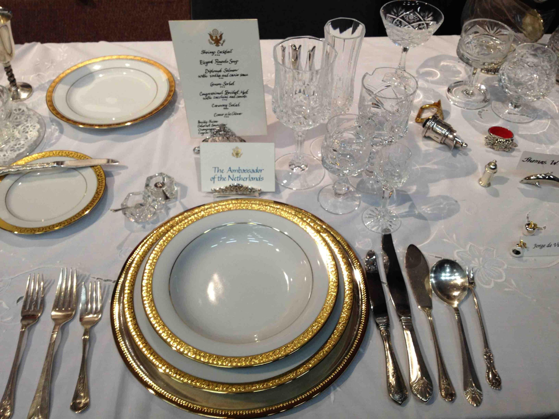 elegant table setting for dinner